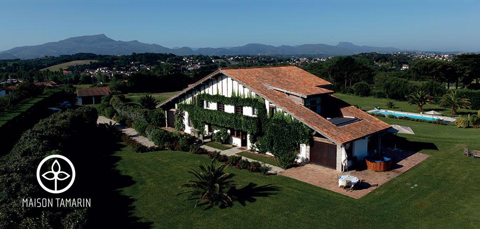 maison tamarin | bed & breakfast villa | plage de lafitenia, 64500
